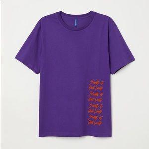 """🎆 Divided H&M """"Shout it out loud"""" purple t-shirt"""
